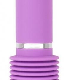 You2Toys Push it - nabíjací silikónový vibrátor s posuvným pohybom (fialový)