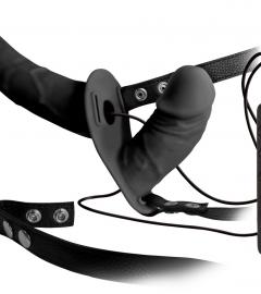 Double Thruster - dvojitý pripínací vibrátor (čierny)