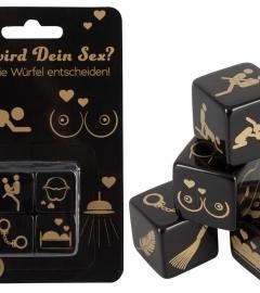 Hra s erotickými kockami - čierne (4 ks)