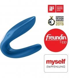 Satisfyer Double Whale Couples - modrý