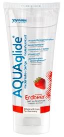 JoyDivision AQUA Glide Erdbeer - lubrikačný ...