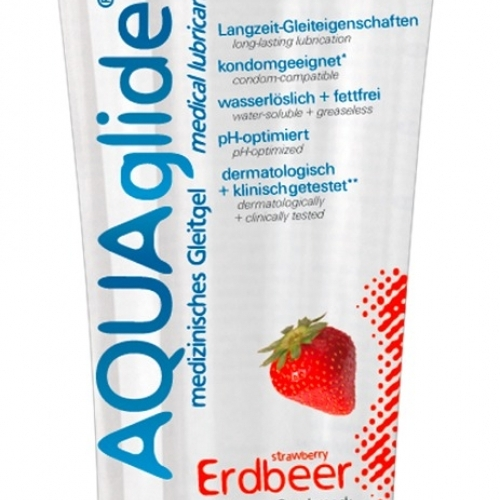 JoyDivision AQUA Glide Erdbeer - lubrikačný gél na báze vody jahodový (100ml)