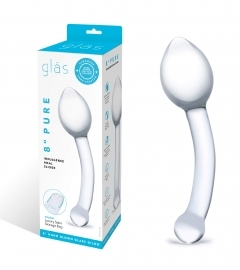Gläs Glas Pure Indulgence Glass Anal Slider- sklenené dvojité análne dildo (priehľadné)