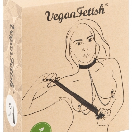 Vegan Fetish - Disciplinary Set (Black) - 3 Pieces