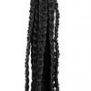 ZADO - 9-strand genuine leather braided whip (black)